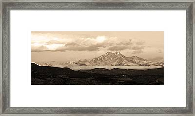 Twin Peaks Sepia Panorama Framed Print by James BO  Insogna