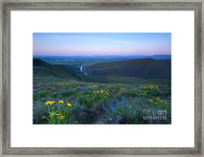 Twin Peaks Sunrise Framed Print