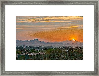 Framed Print featuring the photograph Twin Peaks Sunset Remix by Dan McManus