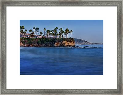 Twin Points At Dusk Framed Print by Kelley King