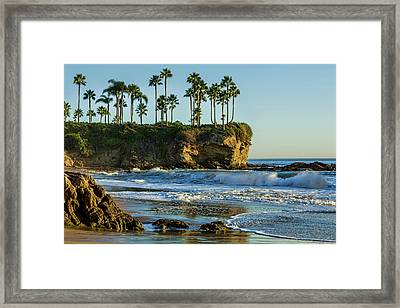 Twin Points Crescent Bay Framed Print by Kelley King