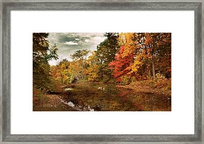 Twin Pond Autumn Framed Print