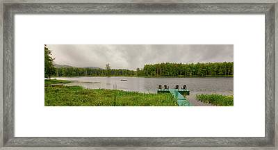 Framed Print featuring the photograph Twin Ponds Landscape by David Patterson