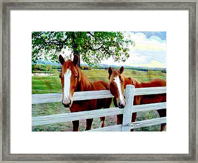 Twin Ponies Framed Print