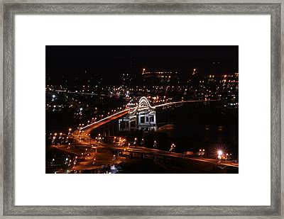 Twin Ports By Night Framed Print