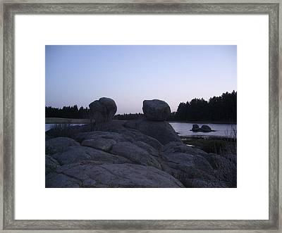 Twin Rocks Framed Print