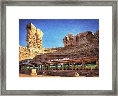 Twin Rocks Trading Post Framed Print