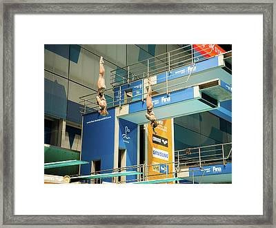 Framed Print featuring the photograph Twin Spin by Alex Lapidus
