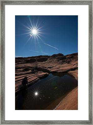 Twin Stars Reflection Framed Print