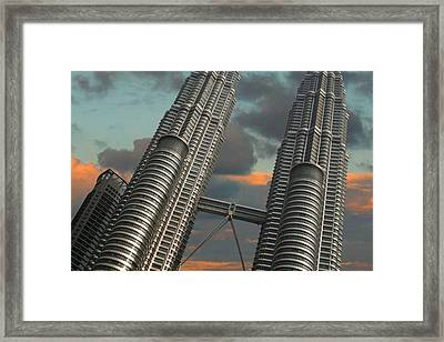 Twin Towers Framed Print by Debbie McIntyre