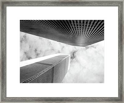 Twin Towers Framed Print by Jerry Editor