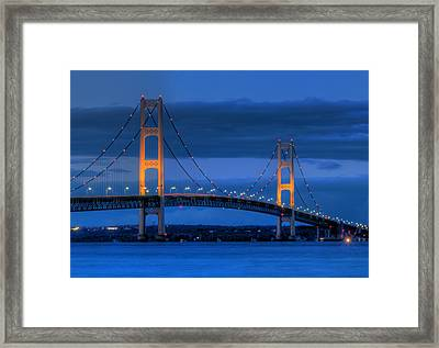 Twin Towers Of Northern Michigan Framed Print by Twenty Two North Photography