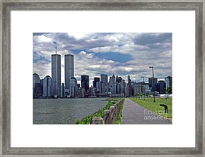 Twin Towers Framed Print by Skip Willits