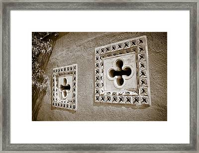 Twin Windows Framed Print by Keith Sanders