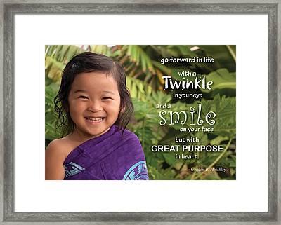 Twinkle Smile Framed Print