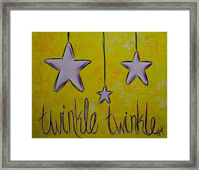 Twinkle Twinkle Framed Print by Emily Page