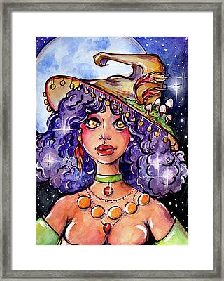 Twinkle Witch Framed Print
