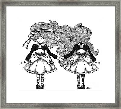 Twins Alice Framed Print