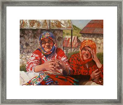 Framed Print featuring the painting Twins by Donelli  DiMaria