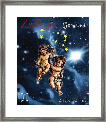 Twins Of Heaven Framed Print