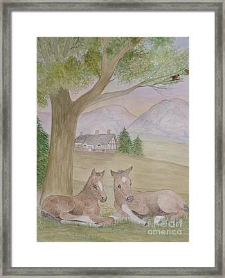Twins Framed Print by Patti Lennox