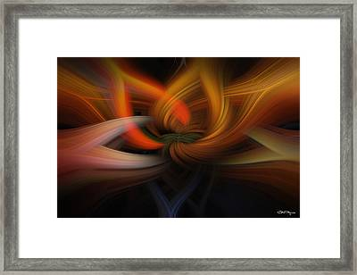 Twirl Abstract Framed Print by Skip Tribby