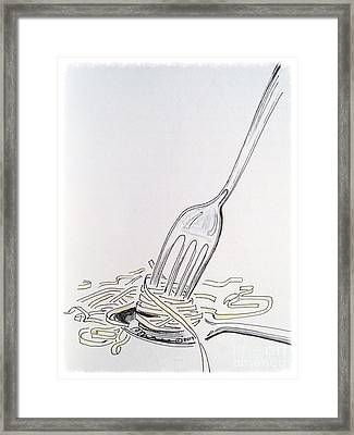 Spaghetti 101 Framed Print by Barbara Chase