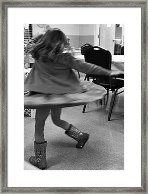 Twirling Girl  Framed Print