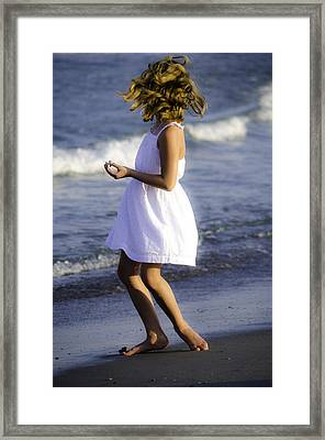 Twirling  Framed Print by Mary Ward