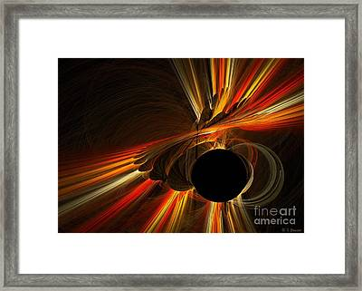 Twist Of Fate Framed Print by Sandra Bauser Digital Art