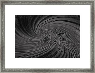 Twist To Black  - Black And Gray Art Framed Print
