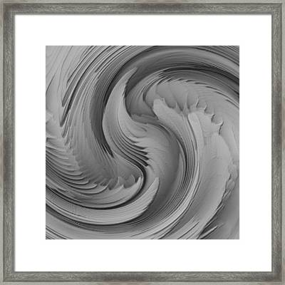 Twisted-black And White Framed Print