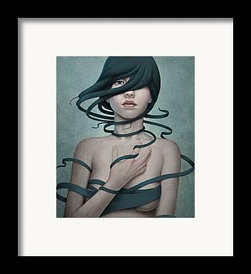 Twisted Framed Print by Diego Fernandez
