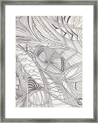 Twisted Dimensions Framed Print by Laurie Gibson
