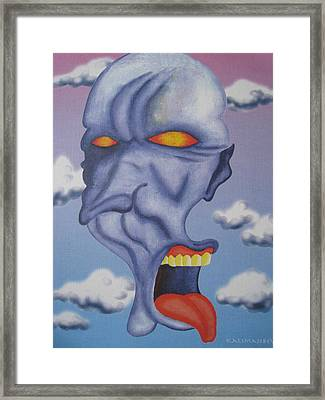 Twisted Face Framed Print by Roger Golden