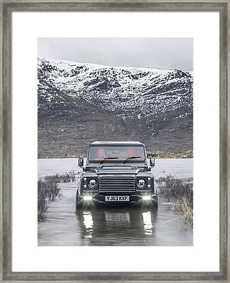 Twisted Land Rover Defender Framed Print