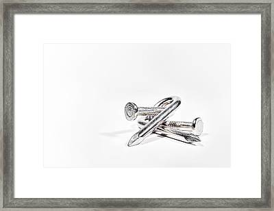 Twisted Nails Framed Print by Scott Norris