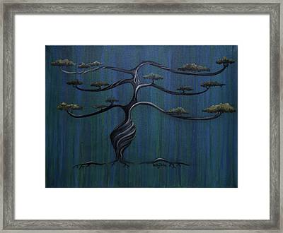 Twisted Oak Framed Print by Kelly Jade King