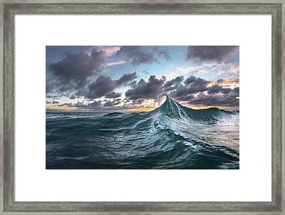 Twisted Peak Framed Print by Sean Davey