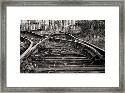 Twisted Railroad Tracks To Somewhere Framed Print by Daniel Hagerman