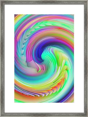 Twisted Rainbow Pastel Framed Print