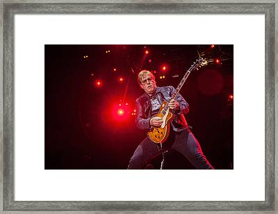 Twisted Sister - Jay Jay French Framed Print by Stefan Nielsen