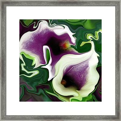 Twisted Sisters Square Framed Print by Suzy Freeborg