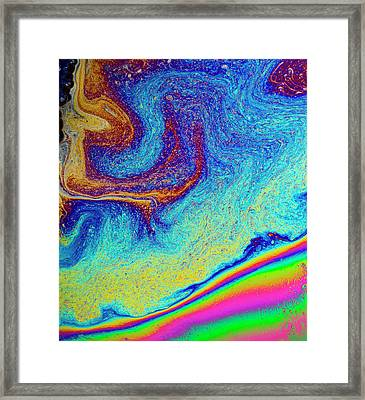 Framed Print featuring the photograph Twisted Soap Film by Jean Noren