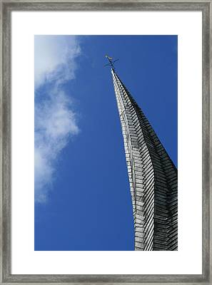 Twisted Spire Framed Print by Cathy Weaver