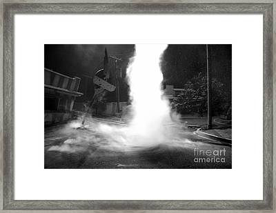 Twister In The Neighborhood Framed Print by David Lee Thompson
