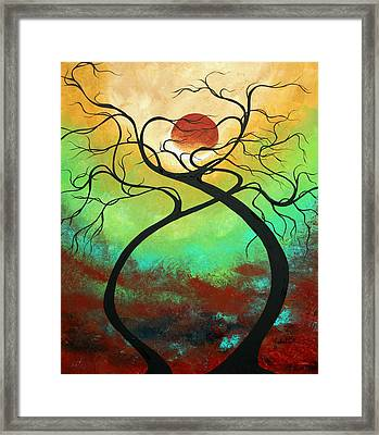 Twisting Love II Original Painting By Madart Framed Print by Megan Duncanson
