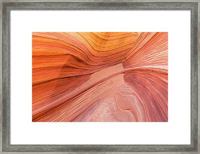 Twists And Turns In Navajo Sandstone Framed Print