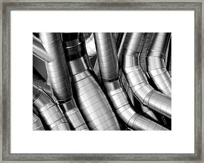 Twisty Tubes Framed Print