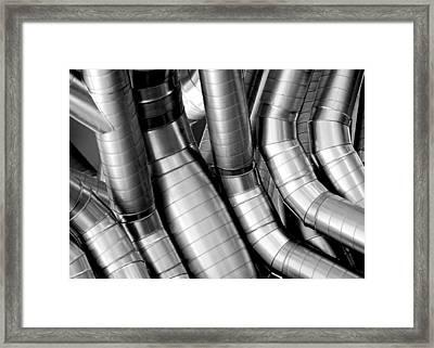 Twisty Tubes Framed Print by Todd Klassy